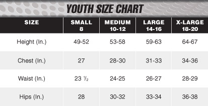 Size Chart - Youth